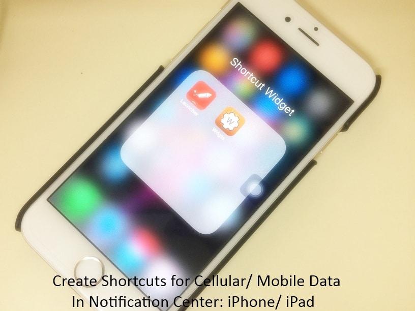 Photo of Cellular data shortcut iphone