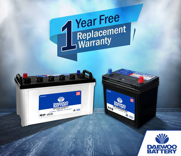Daewoo battery price list 2019
