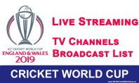 where to watch cricket world cup 2019